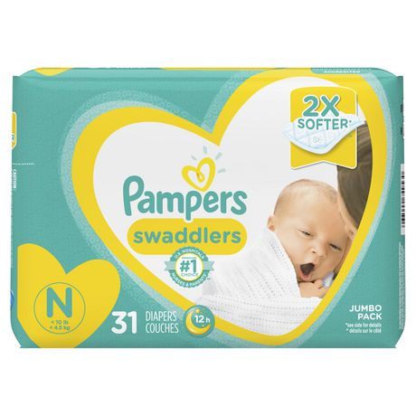 Couches pampers swaddlers pour nouveau n s walmart canada - Couche pampers pour adulte ...