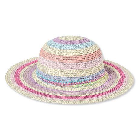 74e9c462e16 George Toddler Girls  Multicoloured Straw Hat - image 1 ...