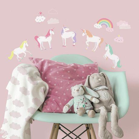 hometrends unicorn magic wall decals | walmart canada