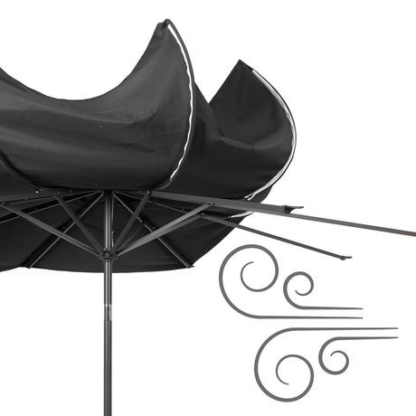 parasol inclinable corliving de 10 pi en noir r sistant au vent pour patio walmart canada. Black Bedroom Furniture Sets. Home Design Ideas