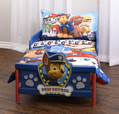 PAW Patrol 3 Piece Toddler Bedding Set- Chase, Rubble, And Marshall - image 1 of 5