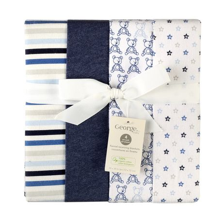 George baby Organic Cotton Flannel Receiving Blankets - image 1 of 6