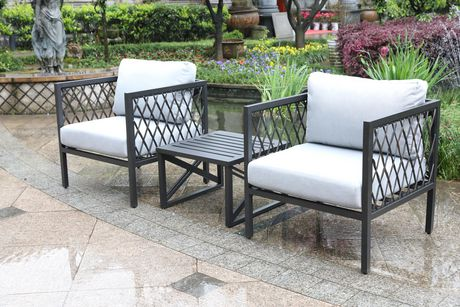Groovy Elgin 3 Piece Patio Conversation Set From Onsight Walmart Home Interior And Landscaping Mentranervesignezvosmurscom