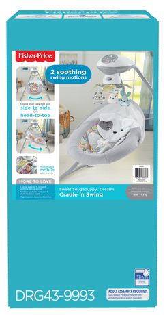Fisher-Price Sweet Snugapuppy Dreams Cradle 'n Swing - image 9 of 9