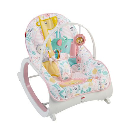 Fisher price infant to toddler rocker pink walmart canada for Chaise bercante walmart