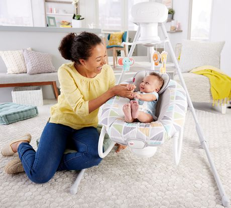 Fisher-Price 2-in-1 Deluxe Cradle 'N Swing - image 3 of 9