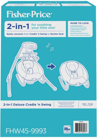 Fisher-Price 2-in-1 Deluxe Cradle 'N Swing - image 7 of 9