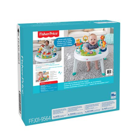 Fisher Price 2 In 1 Sit To Stand Activity Center Walmart