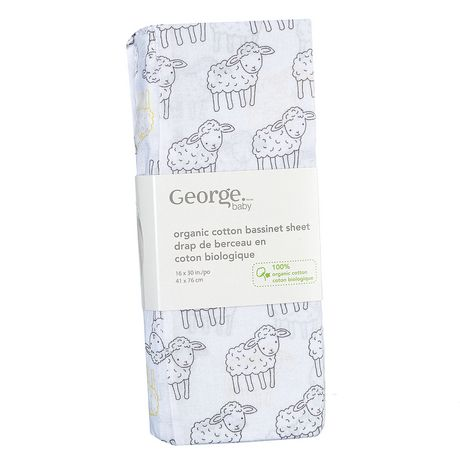 George baby Organic Cotton Flannel Bassinet Sheet - image 1 of 2