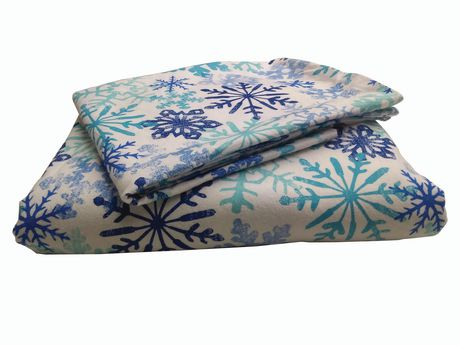 Holiday time 3 Pieces Flannel Sheet Set - image 1 of 1