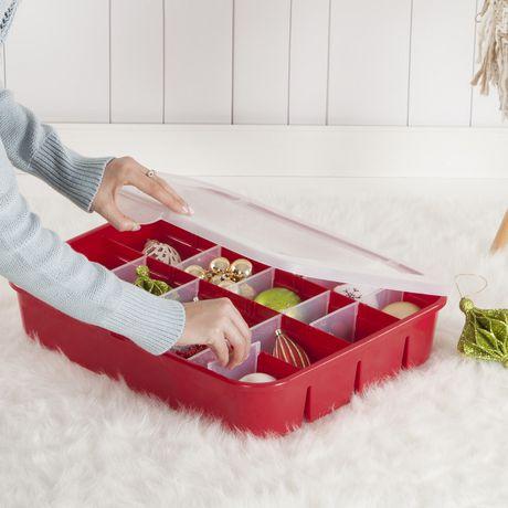 Sterilite Adjustable Red Ornament Case - image 3 of 3