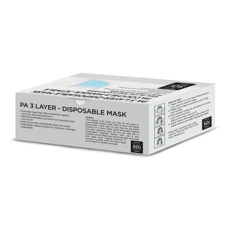 3 Laye-Disposable Mask - image 2 of 3