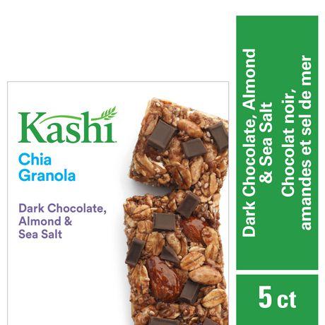 Kashi Barres granola au chia, Chocolat noir amandes et sel de mer, 175g, 5 barres - image 1 de 5