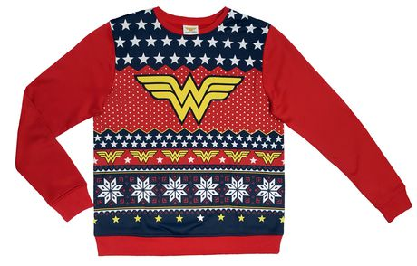 wonder woman christmas sweater for women