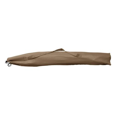 parasol de patio plage corliving de 7 5 pi en brun r sistant aux rayons uv et au vent. Black Bedroom Furniture Sets. Home Design Ideas