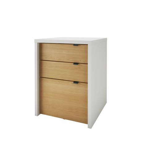Nexera Chrono 3 Drawer Filing Cabinet, White And Natural Maple | Walmart  Canada