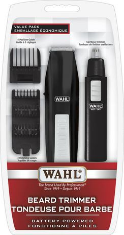 wahl beard trimmer with ear nose trimmer battery operated value pack walmart canada. Black Bedroom Furniture Sets. Home Design Ideas
