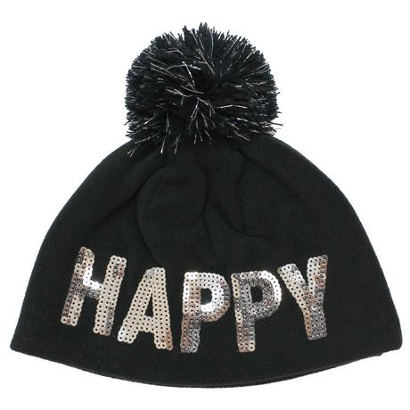 George Girl s Fleece Beanie with Sequins Logo And Lurex Pom ... 9dad6790f9e9