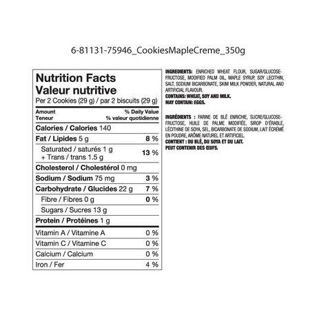Great Value Maple Creme Premium Cookies - image 2 of 2