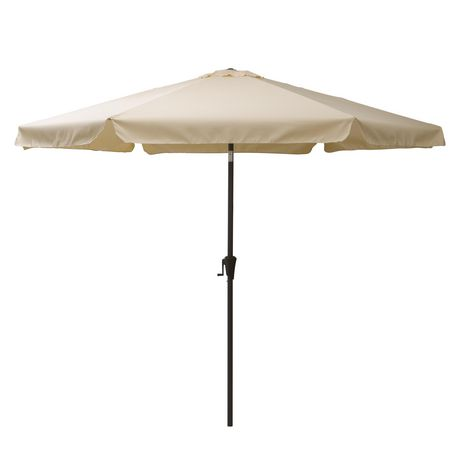 CorLiving PPU 210 U 10 Ft Tilting Patio Umbrella In Warm White