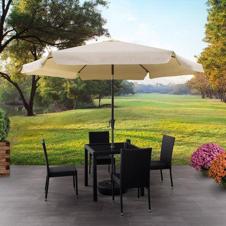 CorLiving PPU 210 U 10 Ft Tilting Patio Umbrella In Warm White | Walmart  Canada