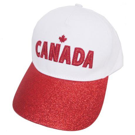 George Women s Team Canada Baseball Hat with Glitter Peak   Applique -  image ... d3db409a30