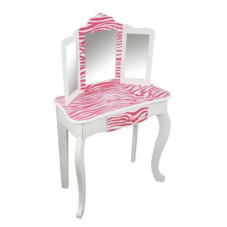 Teamson Kids Zebra Vanity Table And Stool Walmart Canada