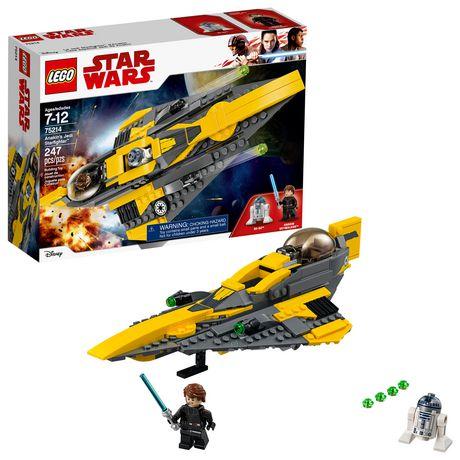 0460f22042e4 LEGO Star Wars: The Clone Wars Anakin's Jedi Starfighter 75214 Building Kit  (247 Piece ...