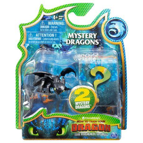 DreamWorks Dragons, coffret de 2 Mystery Dragons Krokmou, figurines dragons à collectionner, pour les enfants à partir de 4 ans - image 1 de 3
