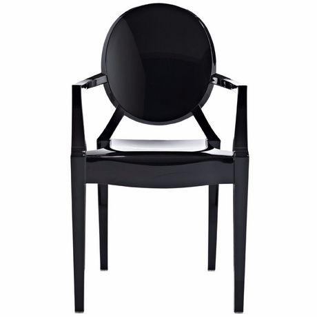 Nicer Furniture Black Ghost Arm Chair