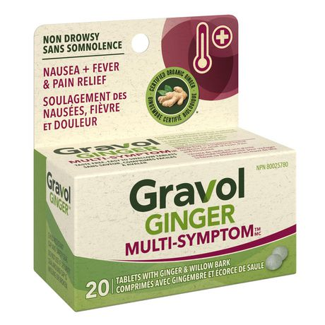 Gravol Ginger Multi-Symptom Cold and Fever Tablets with Willowbark - image 2 of 4