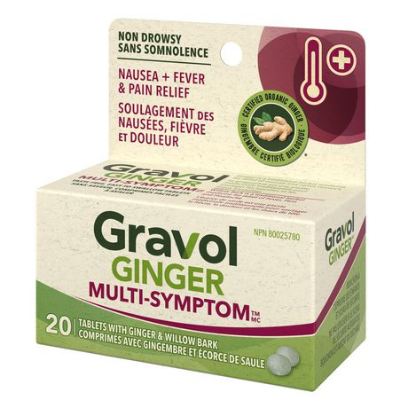 Gravol Ginger Multi-Symptom Cold and Fever Tablets with Willowbark - image 3 of 4