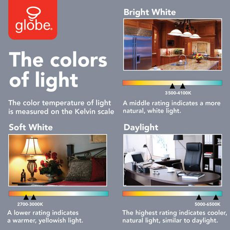 60w Equivalent Soft White 3000k A19 Led Light Bulb 6 Pack E26 Base 800 Lumens