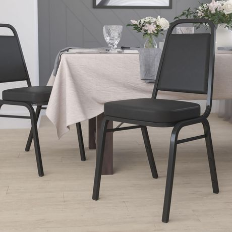 Flash Furniture Hercules Series Trapezoidal Back Stacking Banquet Chair in Black Vinyl - image 2 of 5