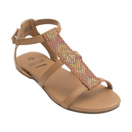 9c216e665fc0 George Girls  Adjustable Strap Beaded Sandals - image 1 of 2 ...