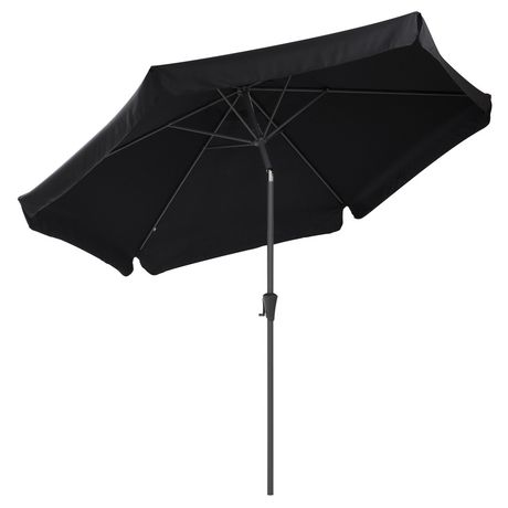 CorLiving PPU 200 U 10 Ft Tilting Patio Umbrella In Black   Walmart Canada