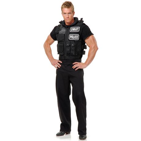 95019d67 Charades Costumes Mens Swat Team Vest Costume - image 1 of 1 ...