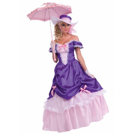 Forum Novelties Adult Blossom Southern Belle Costume Pink One Size Fits All