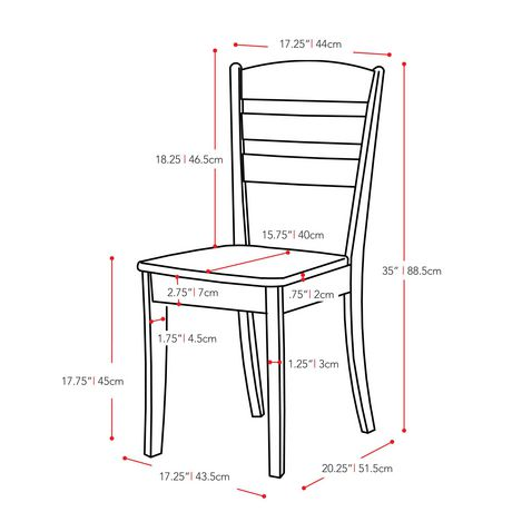 CorLiving Dillon Horizontal Slat Backrest Cappuccino Solid Wood Dining Chairs, Set of 2 - image 8 of 9