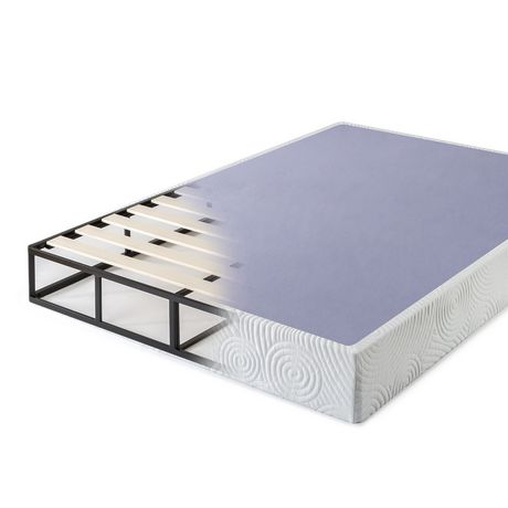 Zinus 9 Inch Metal Smart Box Spring With Wood Slats