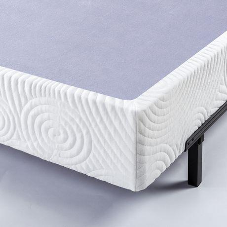 Zinus 9 Inch Metal Smart Box Spring With Wood Slats