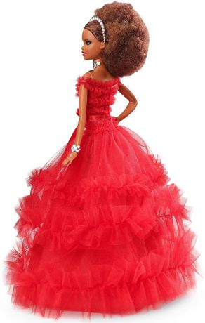 2018 Holiday Barbie Doll -- Brown Hair - image 6 of 8