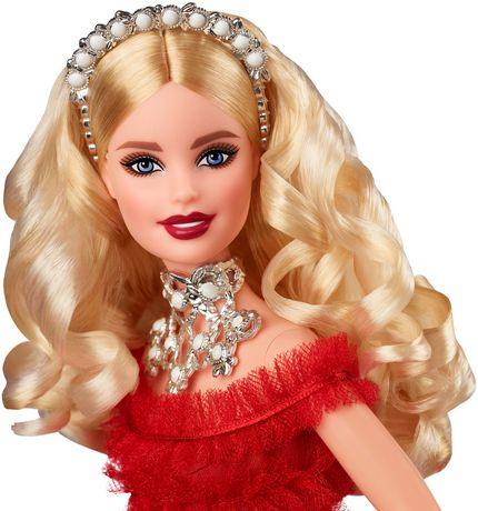 2018 Holiday Barbie Doll -- Blonde Hair