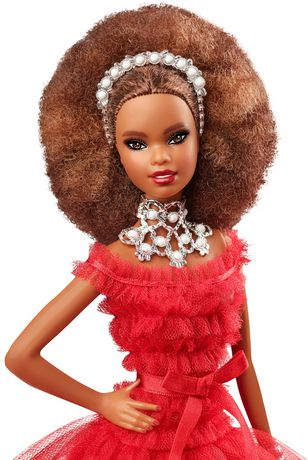 2018 Holiday Barbie Doll -- Brown Hair - image 2 of 8