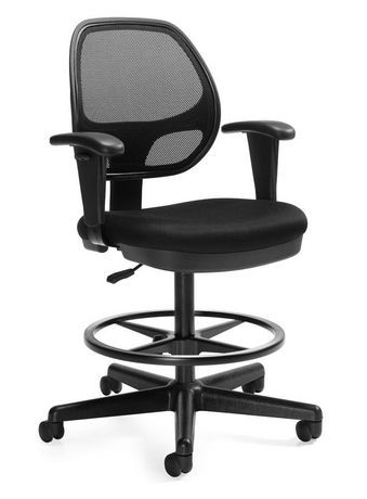 offices to go geo mesh back drafting chair walmart canada