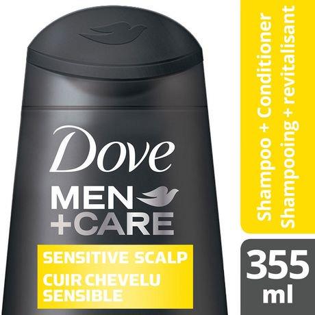dove men care shapooing et apr s shampoing 2 en 1 pour cuir chevelu sensible extrait de. Black Bedroom Furniture Sets. Home Design Ideas