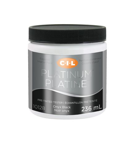 Cil Platinum Interior Paint Tester Pre Tinted Onyx Black 236 Ml