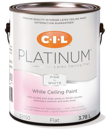 Cil Platinum Interior Paint Pink To White Ceiling L