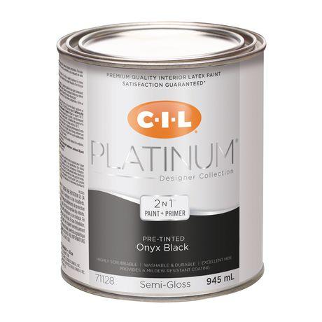 CIL(MD) PLATINE(MD) Peinture d'intérieur préteintée en format d'essai Noir onyx – 945 ml - image 1 de 3