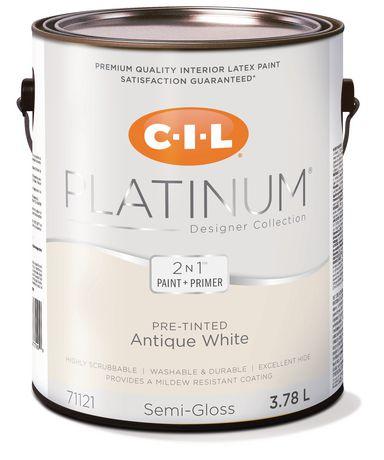 CIL® Platinum® Interior Paint Pre-tinted Antique White - 3.78 L - image 1 of 3
